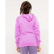Buy Purple Embroided French Terry Kangroo Hoodie for Women  online