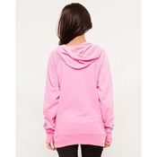 Buy Pink Embroided French Terry Kangroo Hoodie for Women  online