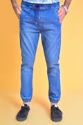Mens Denim Jogger Pant - Jogger Light Wash