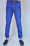 Mens Denim Jogger Pant - Jogger Mid Wash