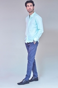 Pack Of 2 Light Green Shirt with Blue Chino