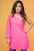 Ignite Womens One Shoulder Top - Pink