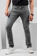 Men's Slim Fit Canvas Basic 5 Pocket's - Grey
