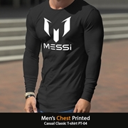Mens Chest Printed Casual Classic T-shirt PT-04