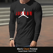 Mens Chest Printed Casual Classic T-shirt PT-03
