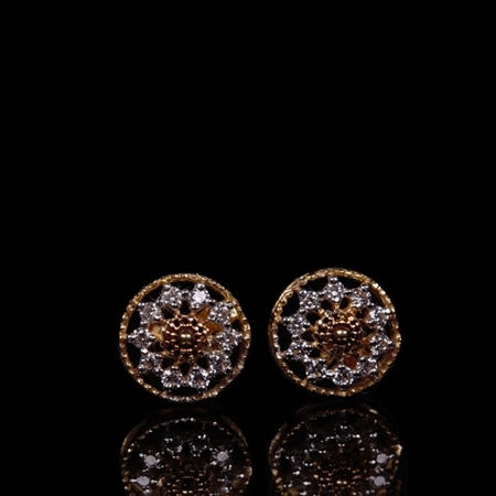 ARY Jewellers 22 KT Glittering Zircon White & Copper Studded Tops