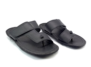 Black Leather Slipper for Men