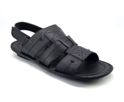 Black Leather Sandal for Men