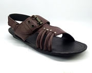 House of Leather Brown Leather Sandal for Men S-21