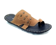 House of Leather Mustard Leather Slipper for Men SL-56