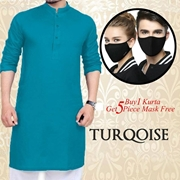 Buy One Kurta Get 5 Piece Mask Free 007