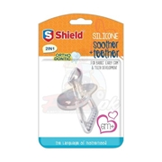 Shield Silicone Soother+teether 2in1