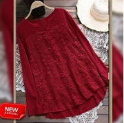 New Arrival Cotton Top Red for Women's  VT-1004