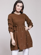 Frock Stylish Shirt for Women's Brown VT-1008