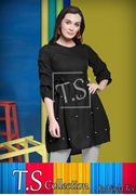 Frock Stylish Shirt for Women's Black VT-1012