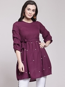 Frock Stylish Shirt for Women's Purple VT-1013