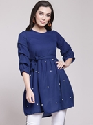 Frock Stylish Shirt for Women's Dark Blue VT-1016
