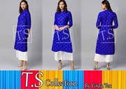 New Ajrak Print Kurti and Palazo for Women's VRRD-27