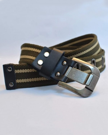 Buy OLIVE & FAWN CANVAS BELT  online