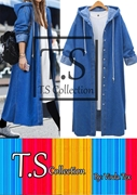 Ladies Denim Long Coat  VRRD-73