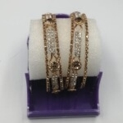 Gold Plated Stylish Bangles For Girl