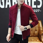 Maroon versity jacket for men ABZ-4