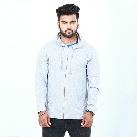 Buy Grey zipper hoodie for men ABZ-6  online