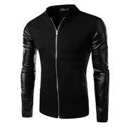 Versity jacket with leather sleeves for men ABZ-7