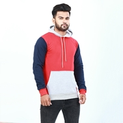 Three tone kangaroo hoodie for men ABZ-12