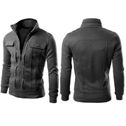 Charcoal Mexican style jacket for men ABZ-13