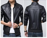 Slim Fit Faux leather Jacket For Men ABZ-27