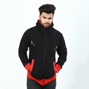 Stylish Zipper Hoodie With Front Pocket For Men ABZ-29