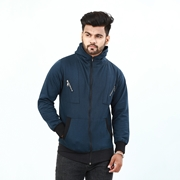 Stylish Zipper Hoodie With Front Pocket For Men ABZ-31
