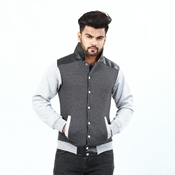 Buy Leather Collar With Front Button Jacket For Men ABZ-36  online