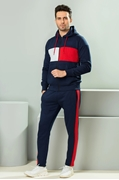 Navy Blue Fleece Jogging Track Suit For Men ABZ-43