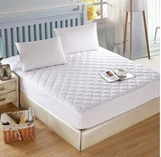 Quilted Zipper Mattress Cover - White - Single MP-070
