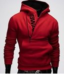 Virda Stylish Red Swag Hoodie VR-SH-005