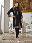 LUXURY EMBROIDERED SILK PRET KURTI KLS-57