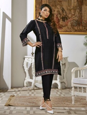 Buy LUXURY EMBROIDERED SILK PRET KURTI KLS-57  online