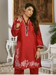 LUXURY EMBROIDERED SILK PRET KURTI KLS-65