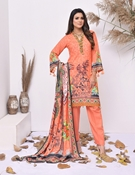 Buy Khas 3 PIECE UNSTITCHED PRINTED KARANDI SUIT KRK-038  online