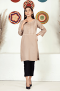 Imroz Winter Pret STRAIGHT KURTA SPK: 7023LB