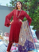 3 PIECE UNSTITCHED EMBROIDERED LAWN SUIT WITH SILK DUPATTA KSE-8035