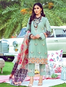 3 PIECE UNSTITCHED EMBROIDERED LAWN SUIT WITH SILK DUPATTA KSE-8036