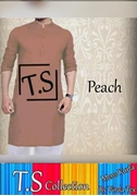 T.S Collection Men's Kurta Peach VRRD-202