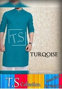 T.S Collection Men's Kurta Turqoise VRRD-210
