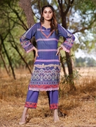 Khas 2 PIECE UNSTITCHED PRINTED LAWN SHIRT WITH DYED TROUSER RKL-1096