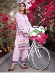 Khas 2 PIECE UNSTITCHED PRINTED LAWN SHIRT WITH DYED TROUSER RKL-1099