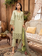 Khas 3 PIECE UNSTITCHED EMBROIDERED LAWN SUIT WITH SILK DUPATTA KSE-1115